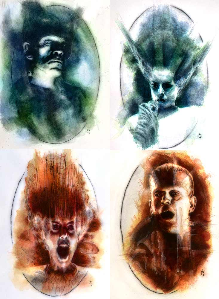 bride of frankenstein tetraptych