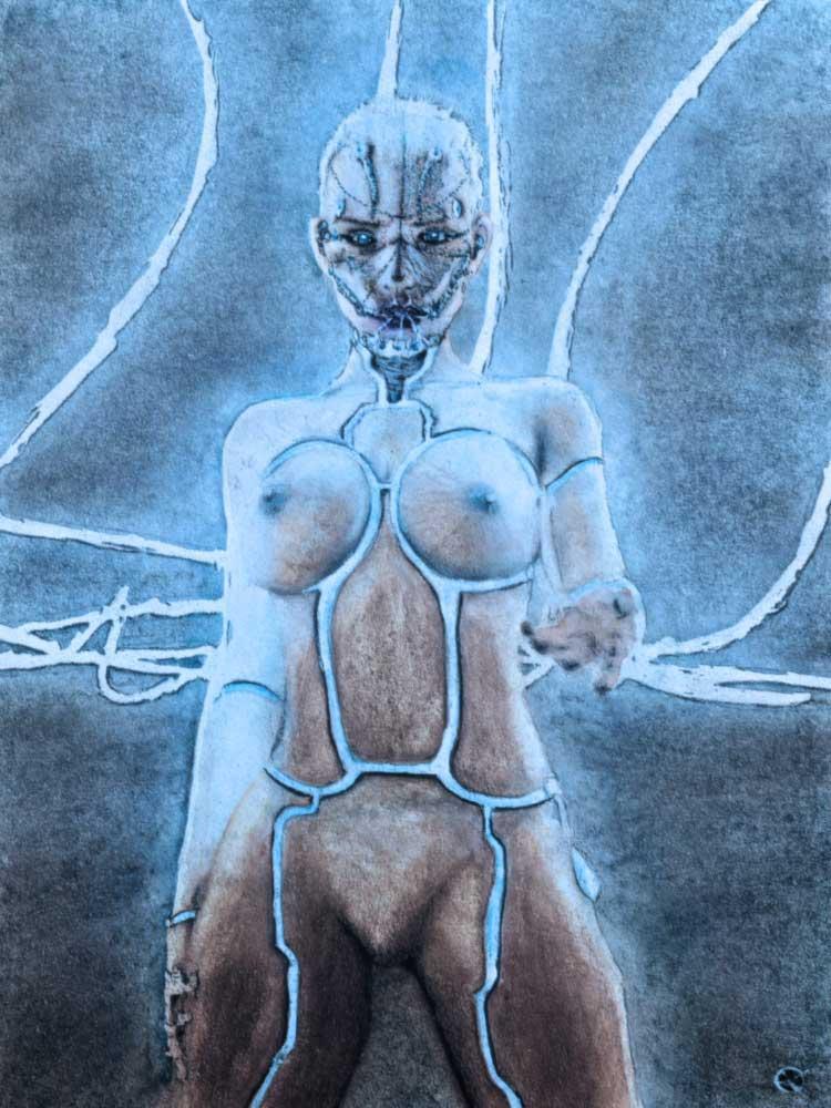 Female Robot Erotic MeatRoots Art