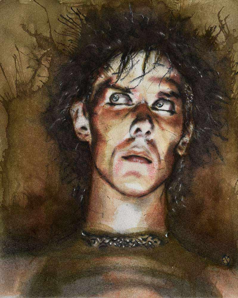 Peter Murphy Watercolor MeatRoots Art
